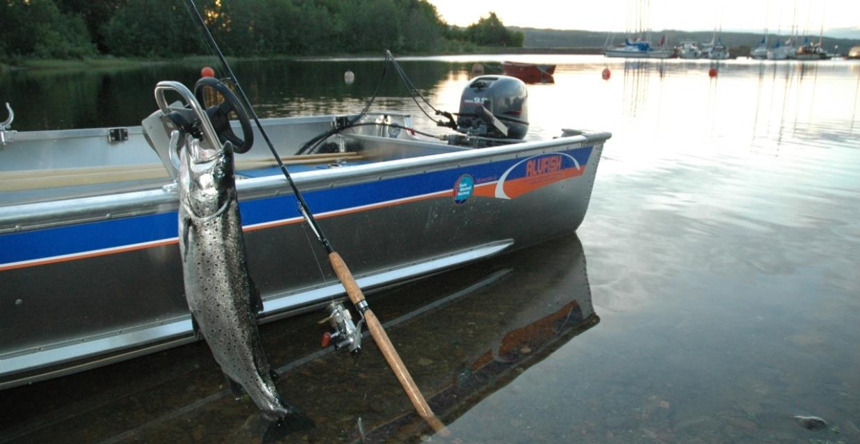 GJO - Gallery - Fishing - Fishing spots - Fjords and Lakes -  Boat by lake Mjosa